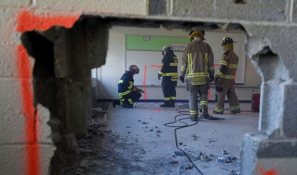 Firefighters train at vacant Cascades Elementary Building