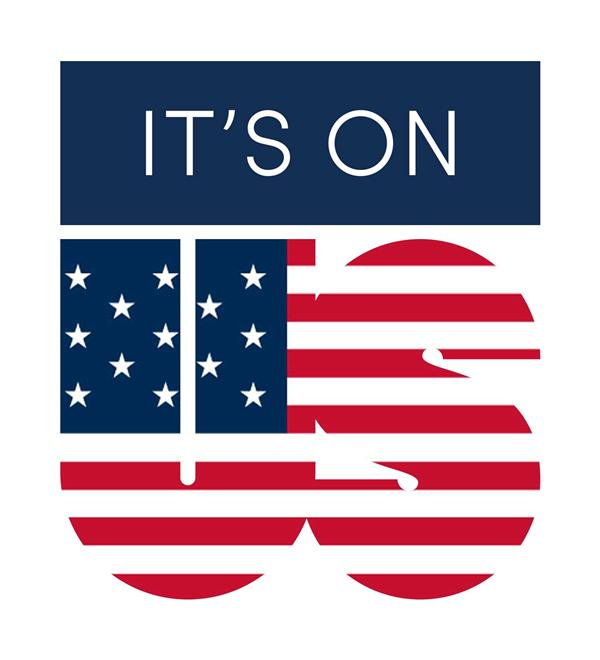 "USA Olympic Team logo ""It's On Us"""